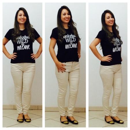Calça jeans Off White (Forever 21) | Sapatilha com ponteira (H&M)